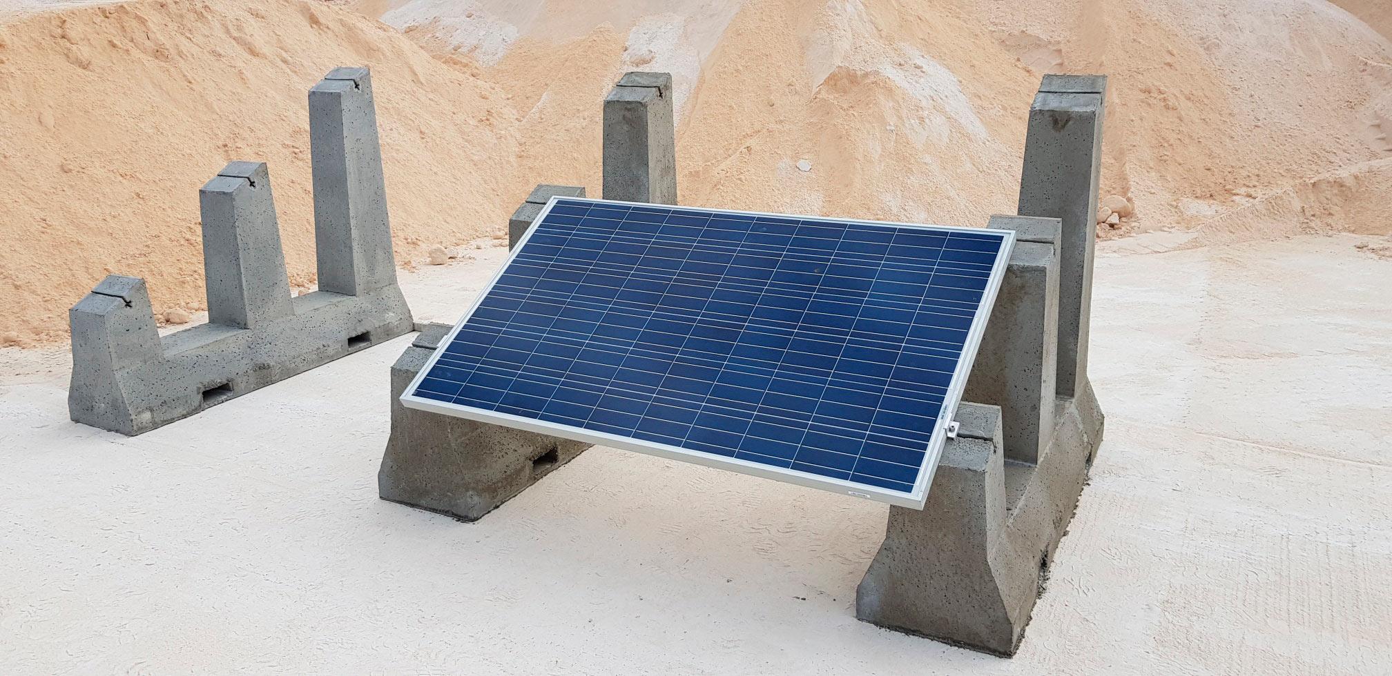 Soporte para placas solares en tejado SOLARBLOC