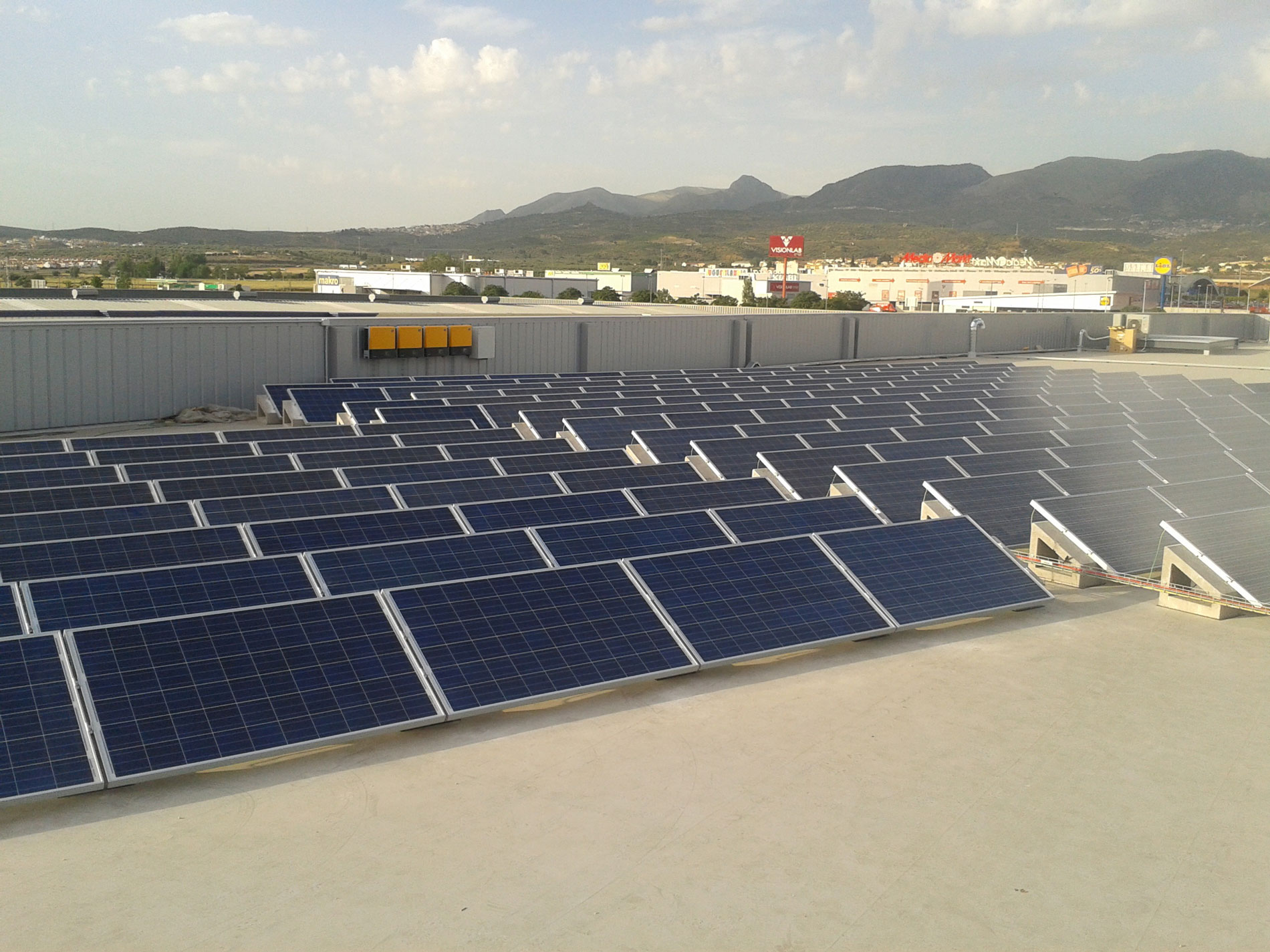 soporte para placas solares grandes SOLARBLOC