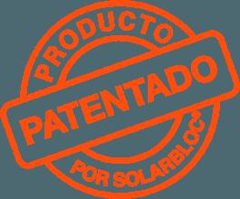 Sello producto Solarbloc patentado