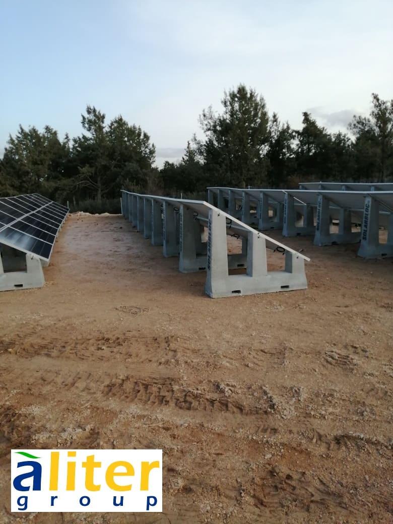 Soportes para placas solares fotovoltaicas SOLARBLOC ALITER