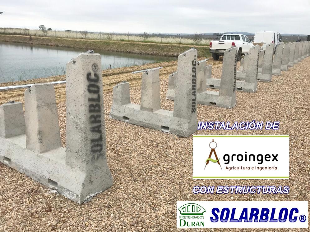Soportes para placas solares fotovoltaicas Groingex SOLARBLOC