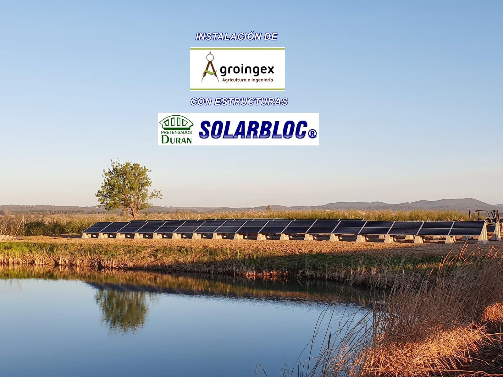 Soportes para placas solares fotovoltaicas SOLARBLOC Agroingex