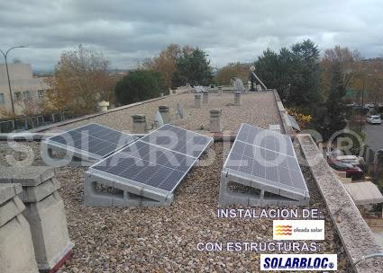 Soportes para placas solares fotovoltaicas SOLARBLOC