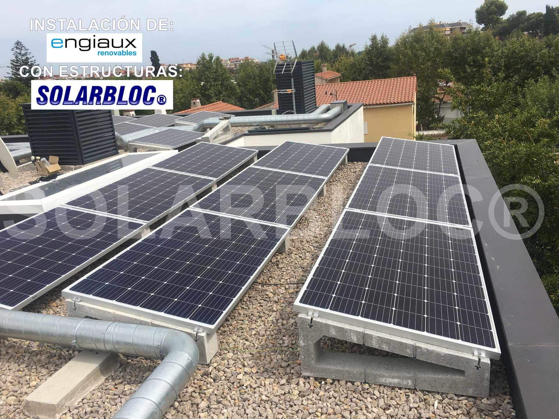 Soporte placas solares tejado SOLARBLOC Engiaux