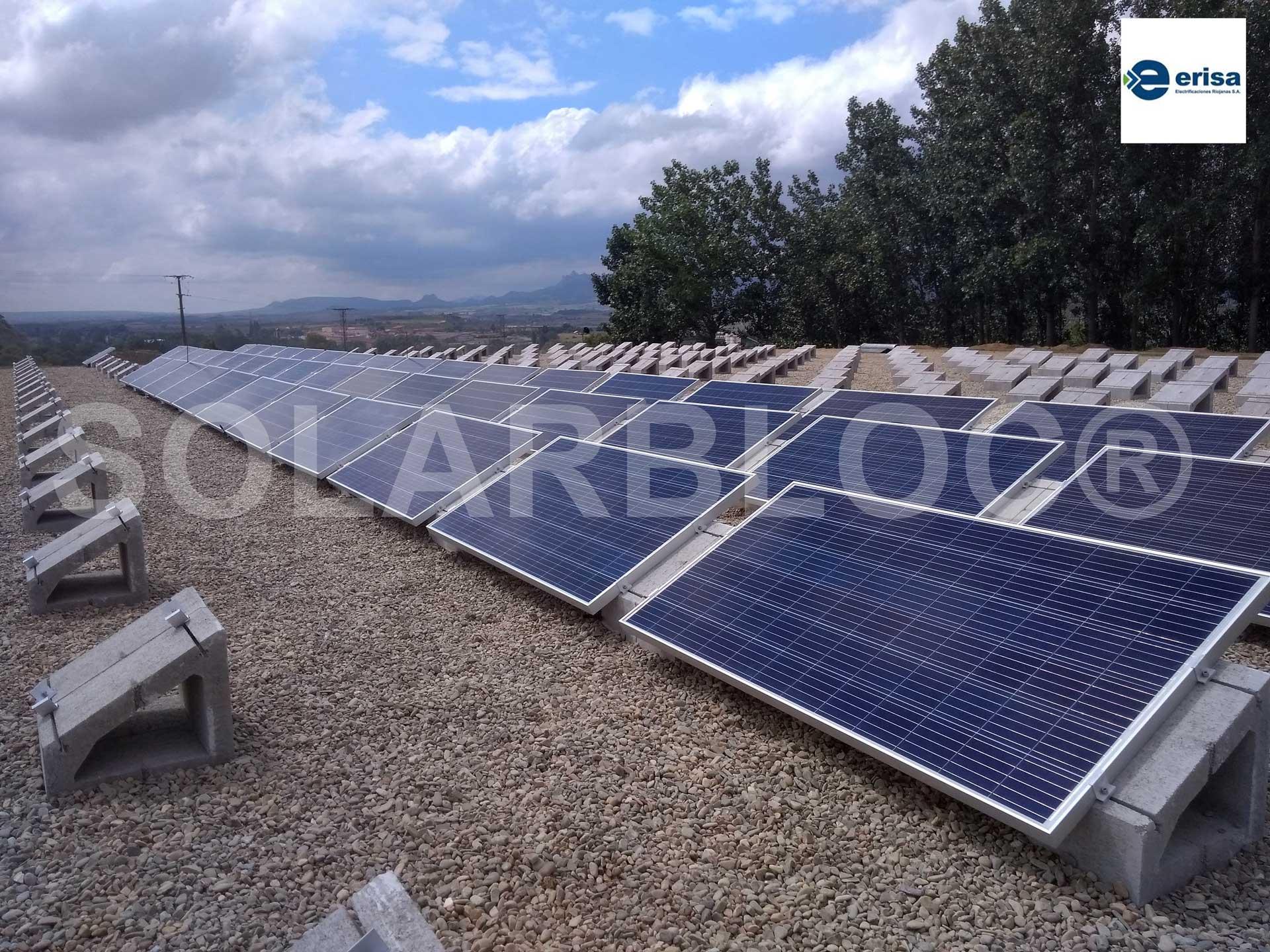 Soportes para placas solares grande ERISA SOLARBLOC