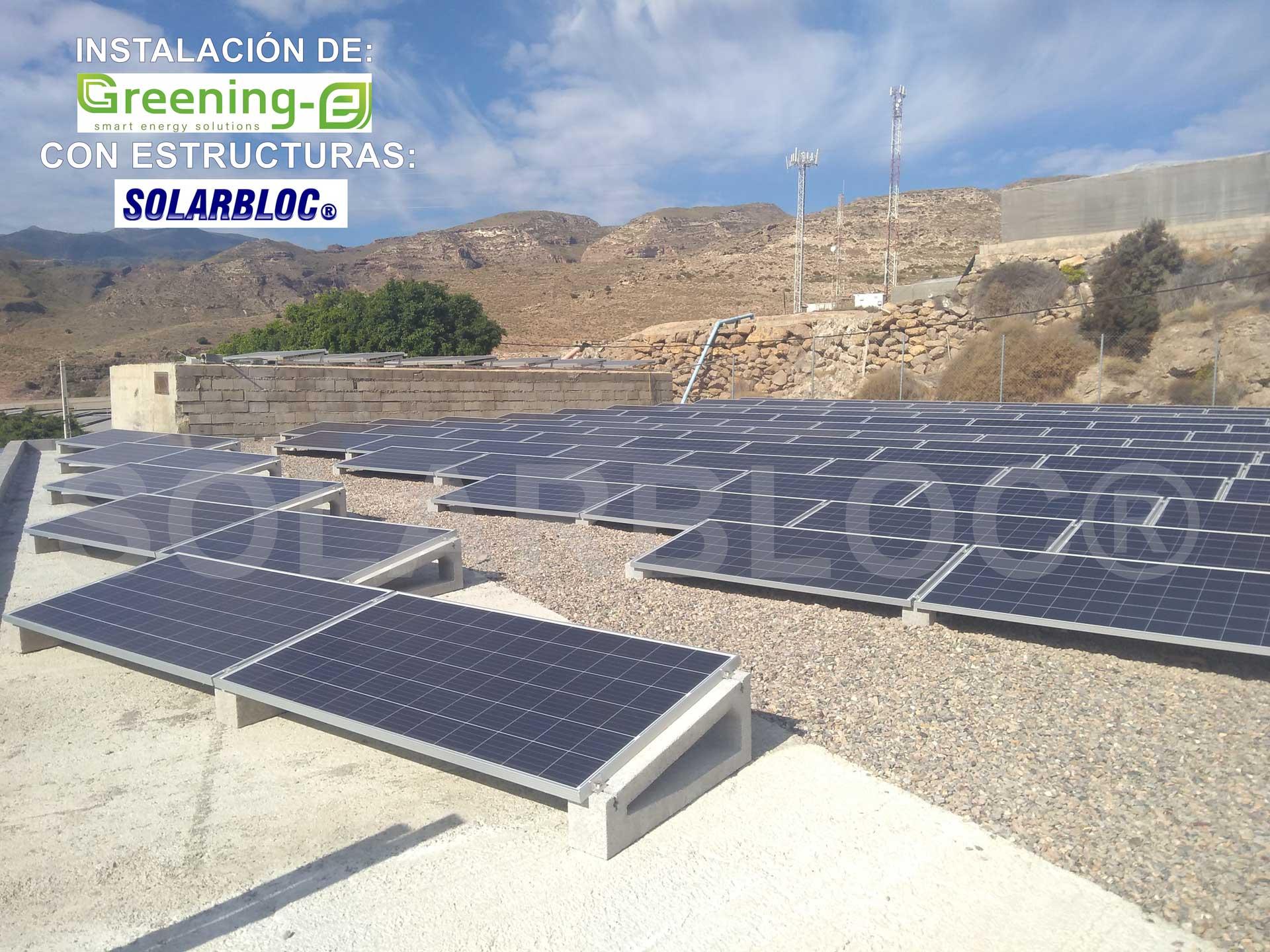 Soportes para placas solares Greening SOLARBLOC