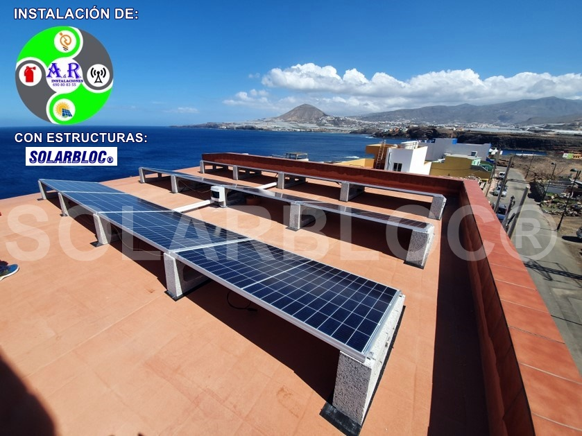 Soportes paneles solares tejados AR SOLARBLOC