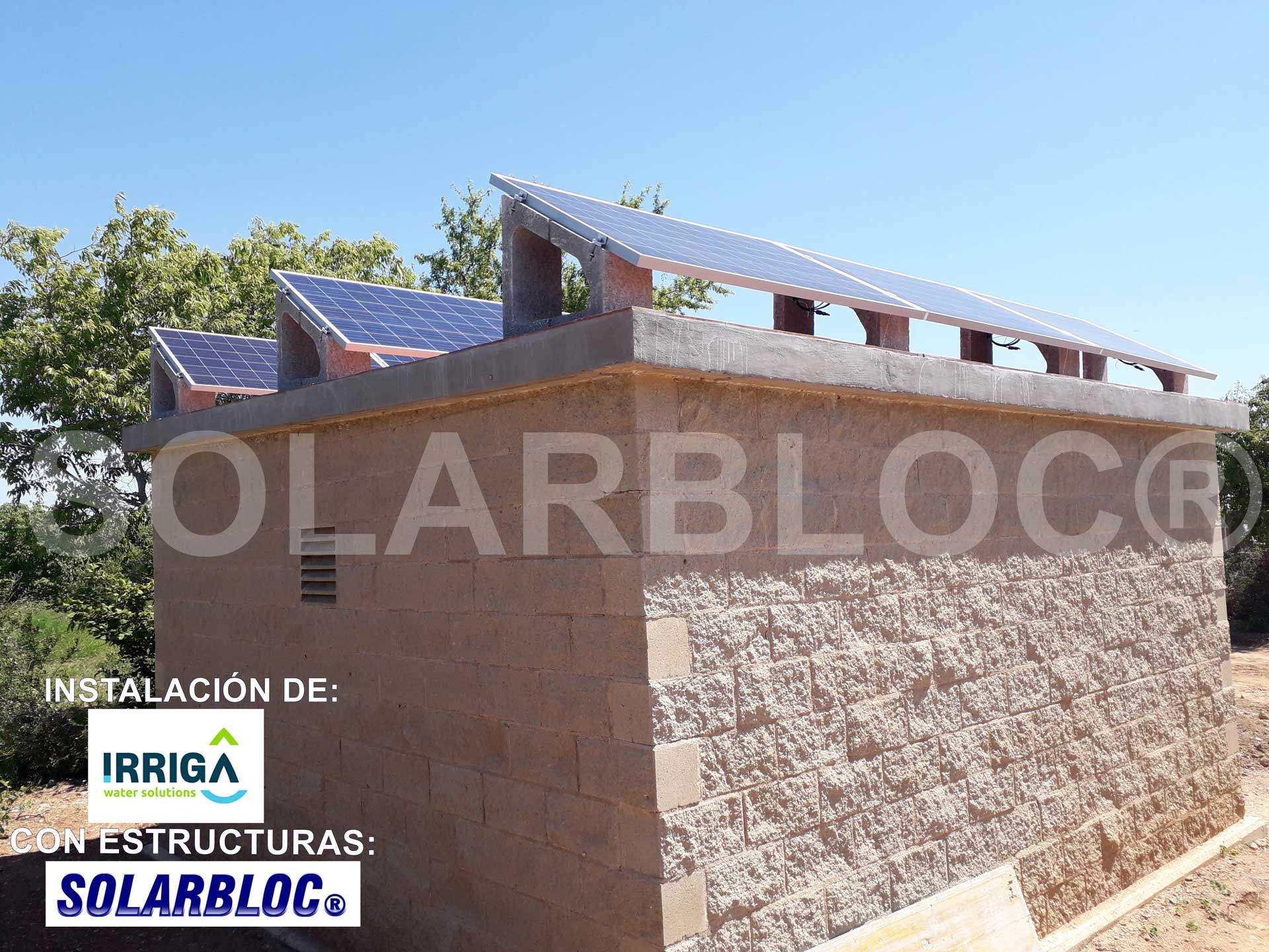 Soortes para paneles solares sobre tejas IRRIGA SOLARBLOC