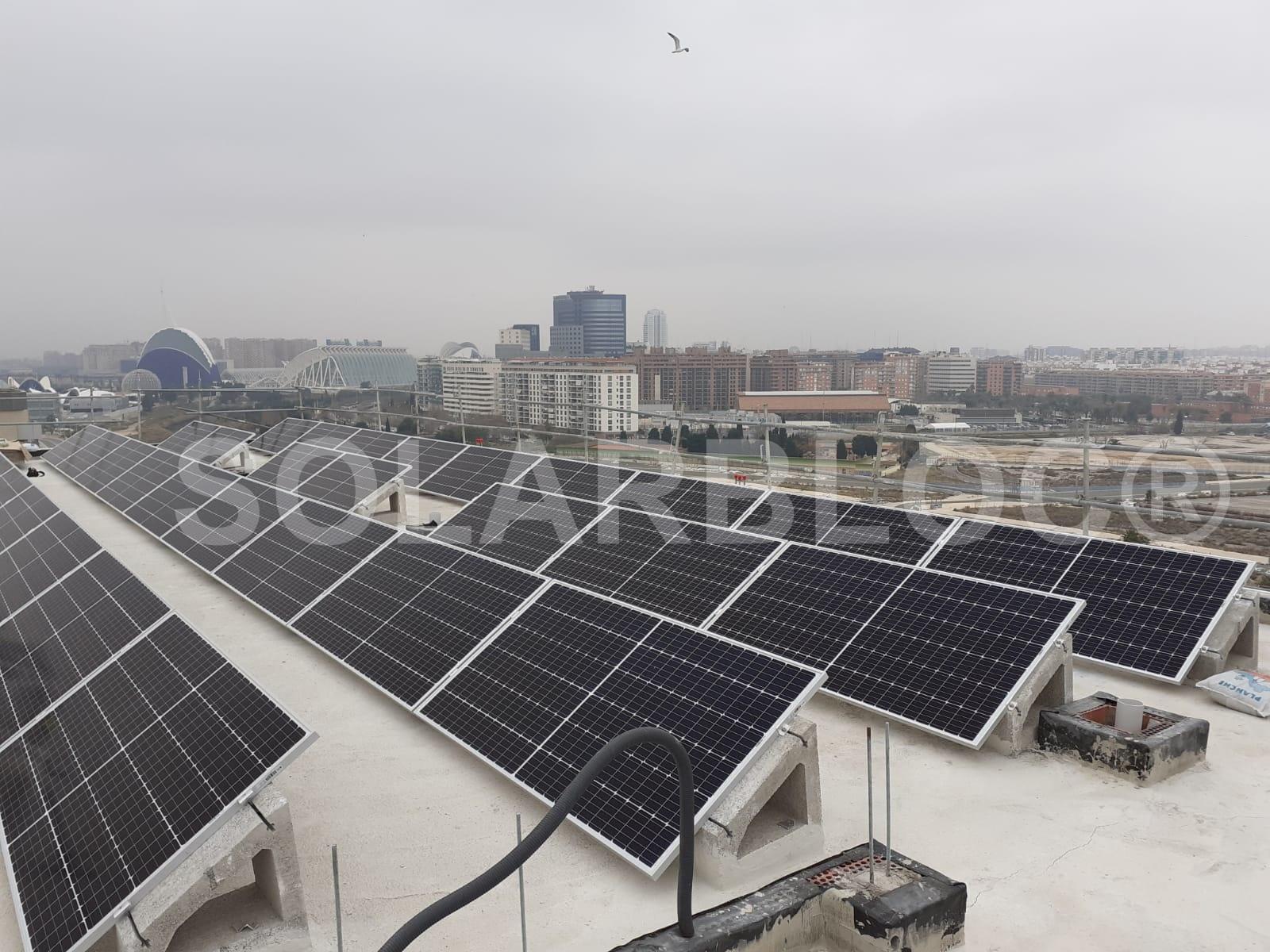 Soporte panel solar tejado SOLARBLOC