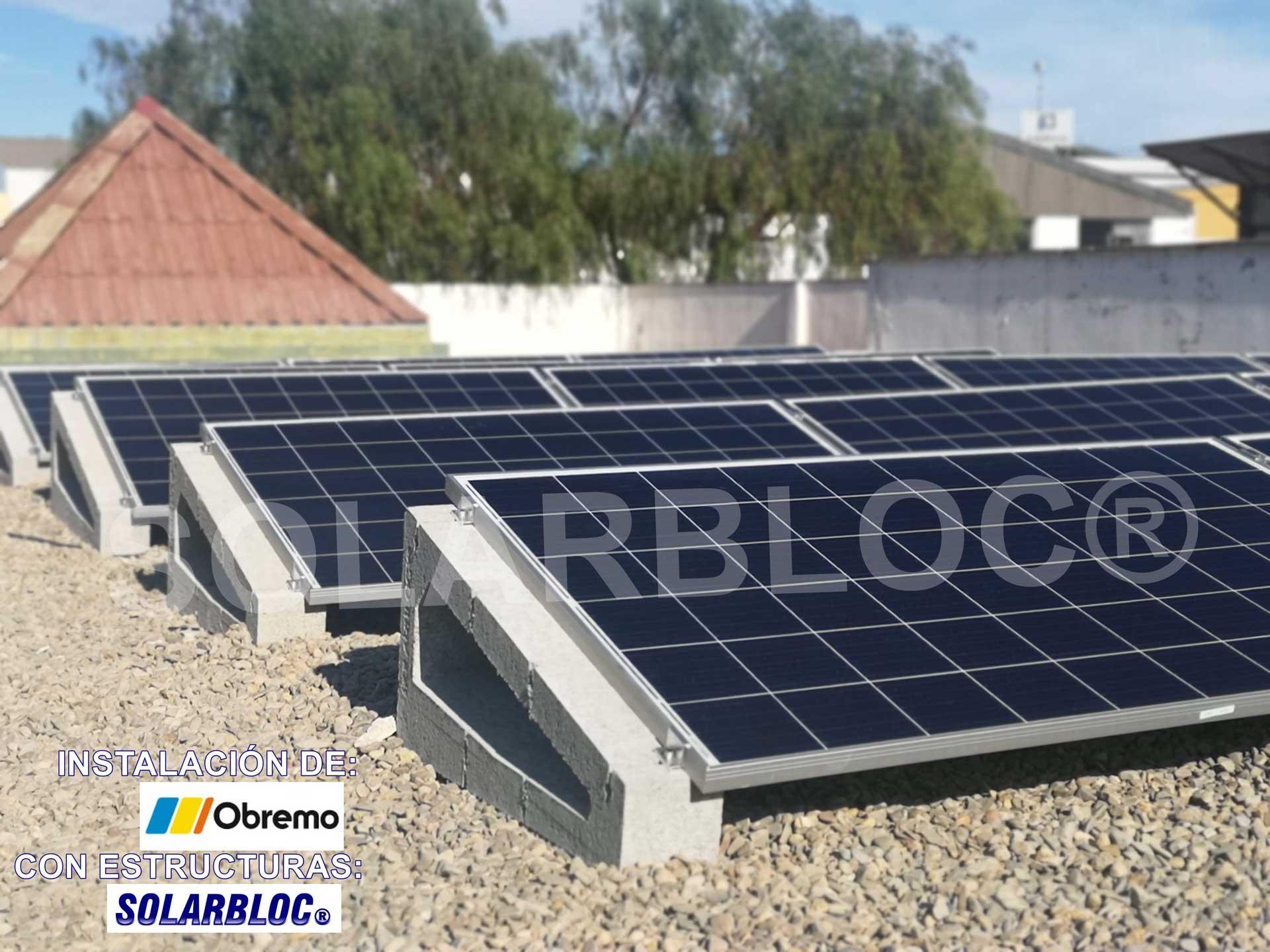 Soportes placas fotovoltaicas Oberemo SOLAARBLOC