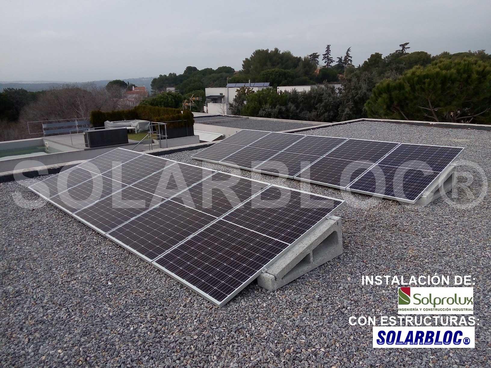 Soportes paneles solares para tejados Solprolux SOLARBLOC
