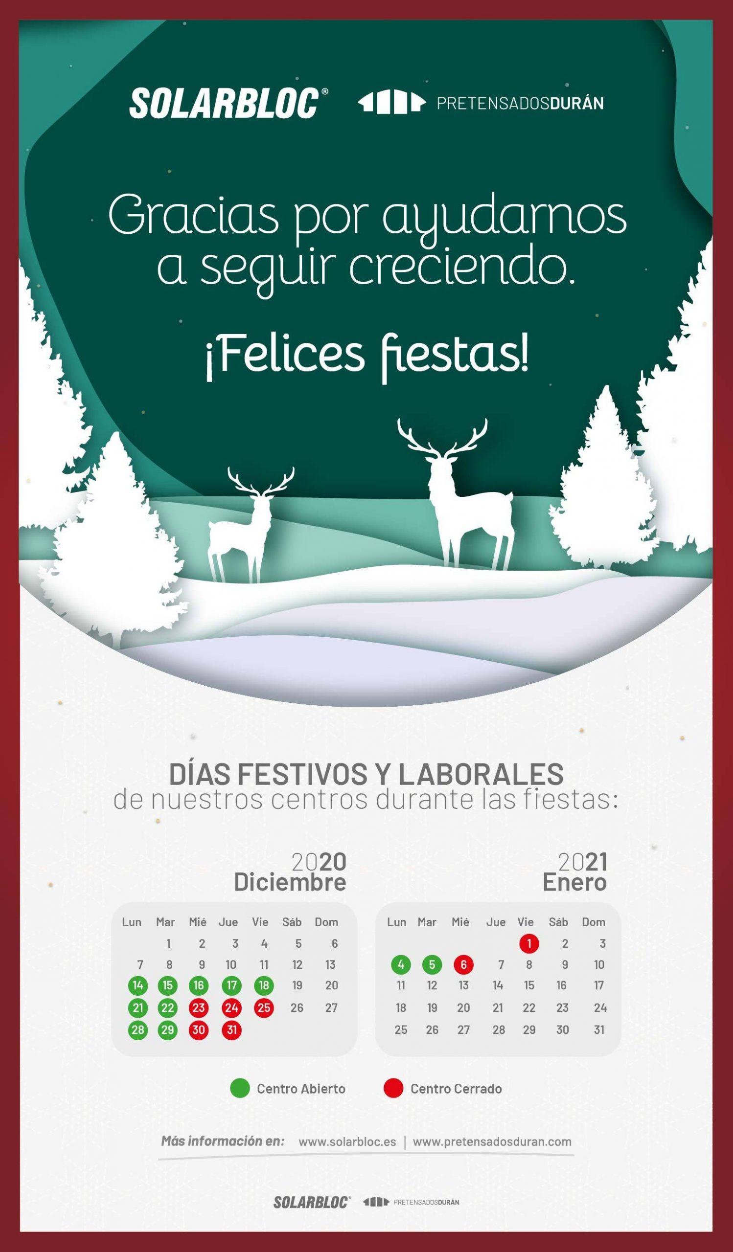 Calendario Navidad Solarbloc
