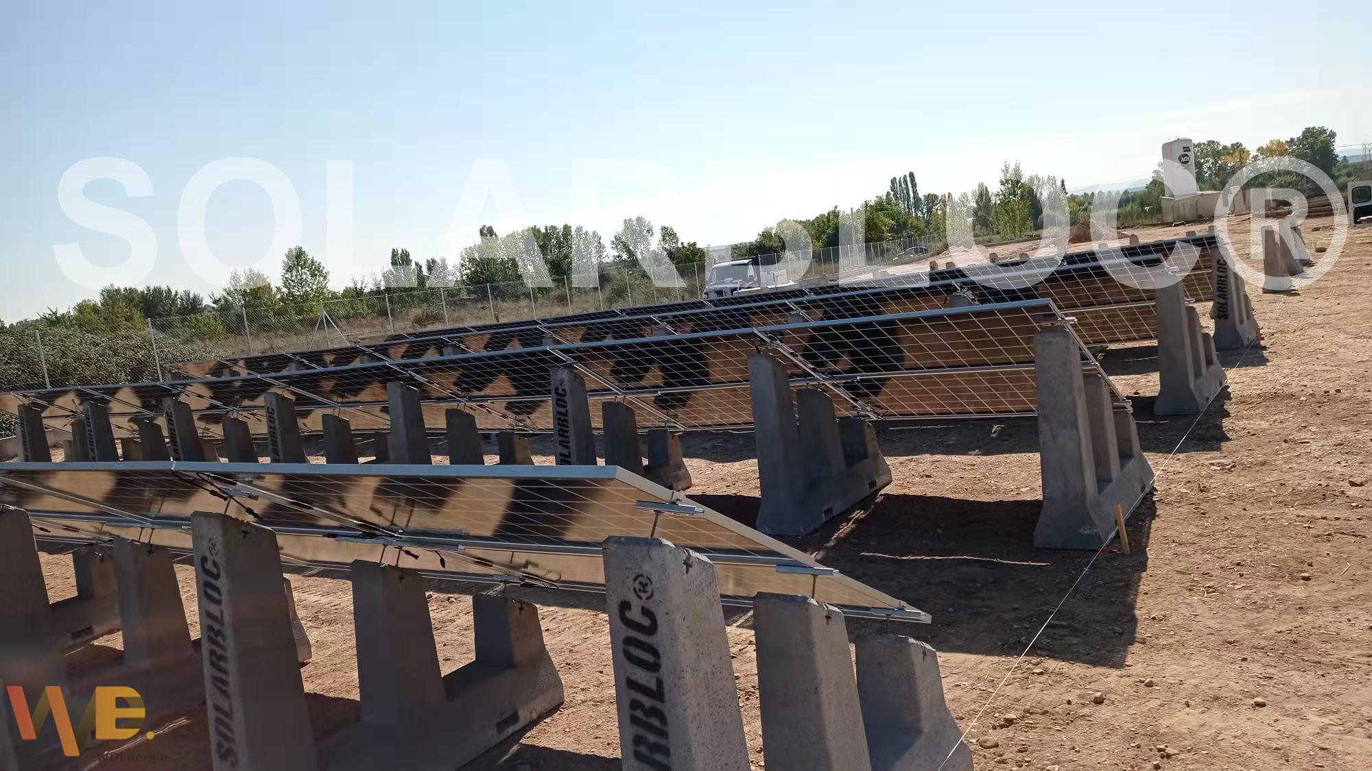 soportes para paneles solares en huertos solares