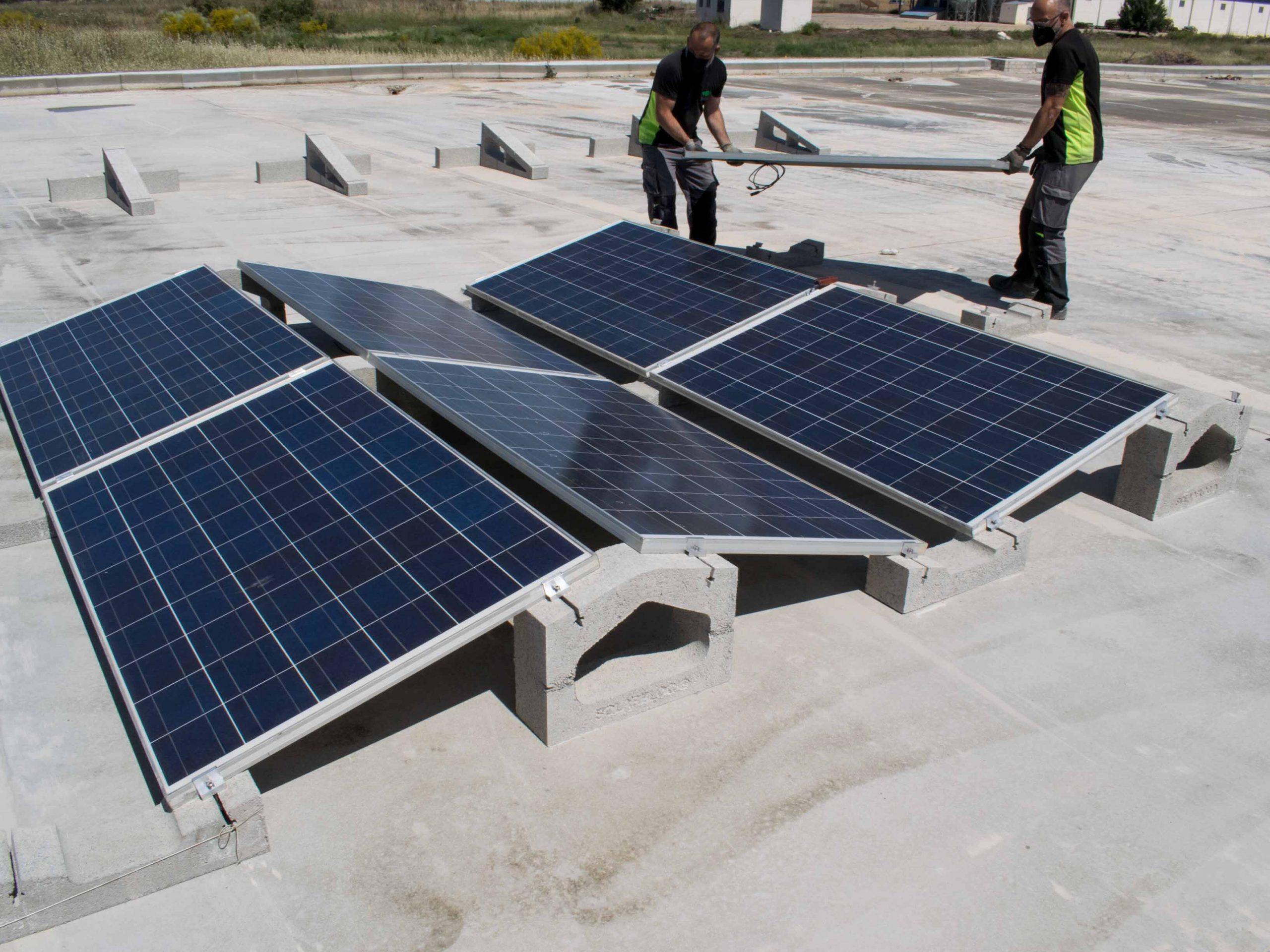 Soporte hormigón panel solar SOLARBLOC