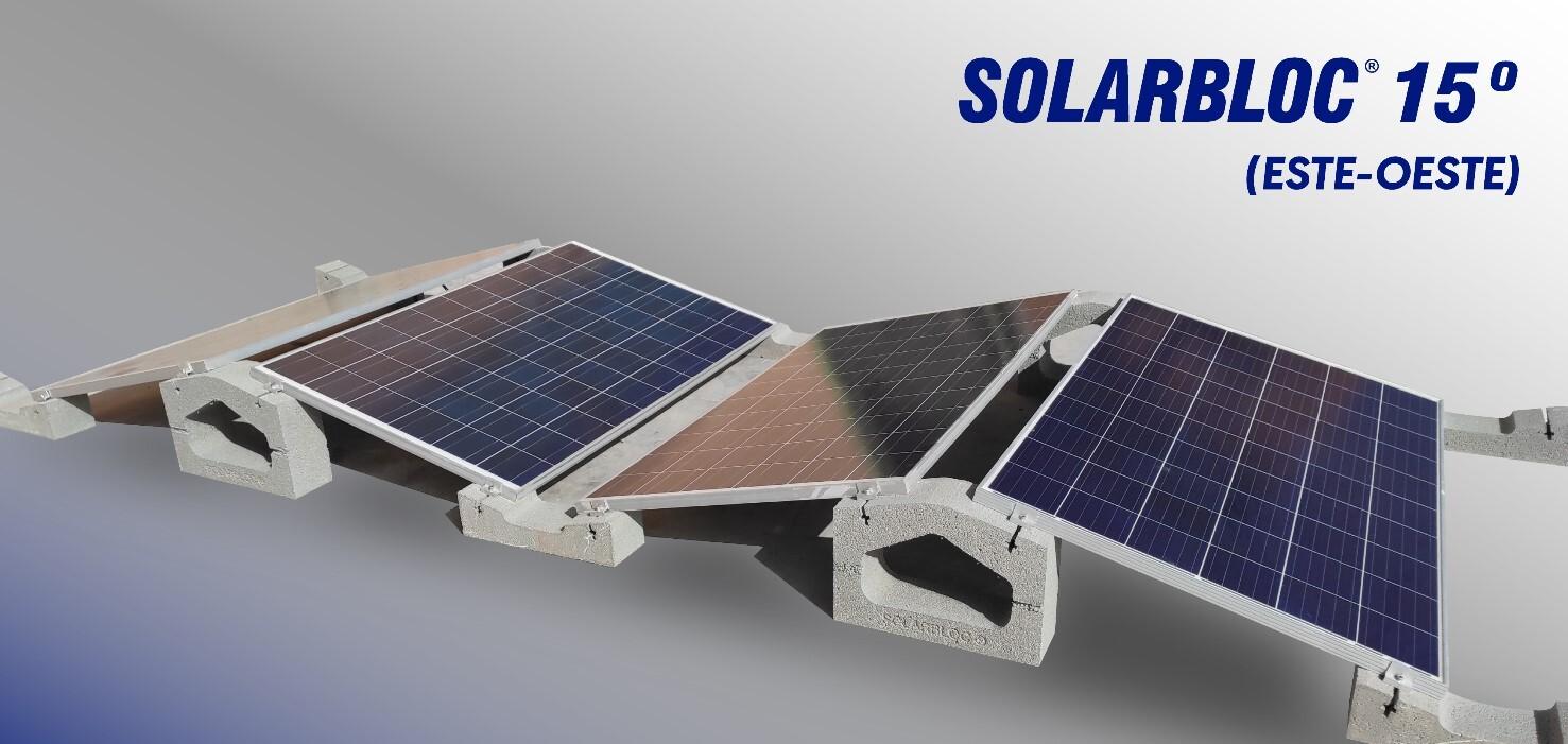 Nuevo sistema de orientación Este-Oeste 15º para placas solares